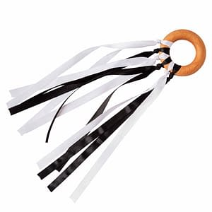 Black and White Sensory Ribbons for Newborns