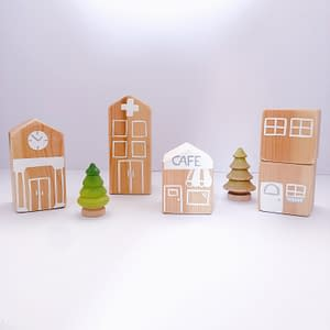 Wooden Toy Play Set for Babies and Toddlers