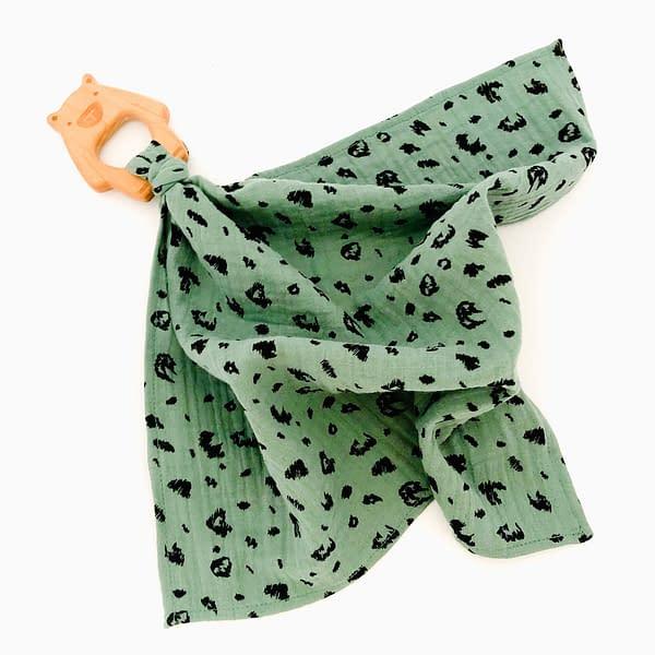 Multi Muslin in Earthy Green Animal Print